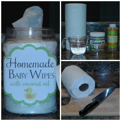How to Make Homemade Baby Wipes with Coconut Oil – Reduce the chemicals used on your baby, make these homemade baby wipes in 3 easy steps.