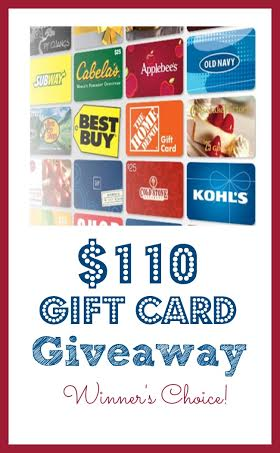 $110 Gift Card Giveaway