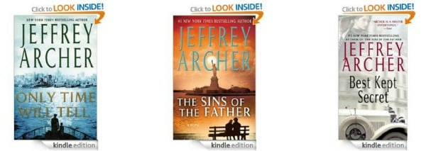 Amazon Best Bargain of the Day: Highly Rated Jeffery Archer Kindle Thrillers Only $1.99 Each