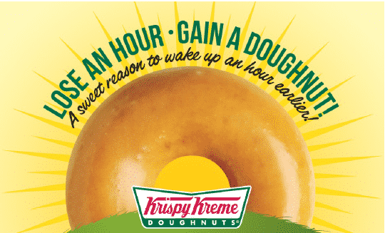 free original glazed doughnut at Krispy Kreme on March 9