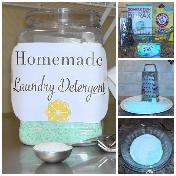Homemade Laundry Detergent - Reduce the use of harsh chemicals in your home with this 3 ingredient recipe.