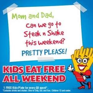 Steak n Shake kids eat free banner