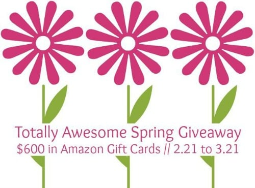 Enter to Win the Totally Awesome Spring $600 Giveaway