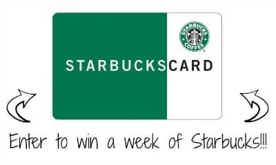 Enter to Win The 7-Days of FREE Starbucks Giveaway ($35 Value)
