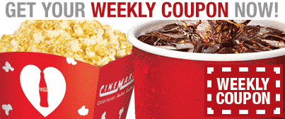 Weekly Cinemark coupon banner
