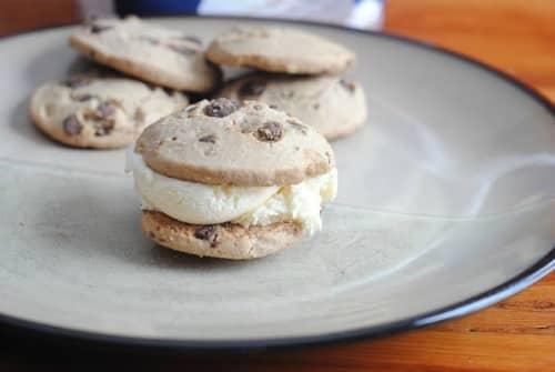 Gluten Free Chocolate Chip Ice Cream Sandwiches - Ready in Minutes!
