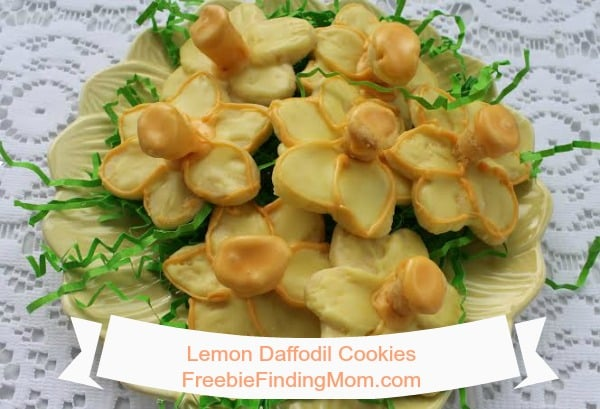 Daffodil Lemon Cookies - Welcome in spring by making this sweet treat recipe.