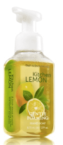 Kitchen lemon hand soap to promote Bath & Body Works coupon