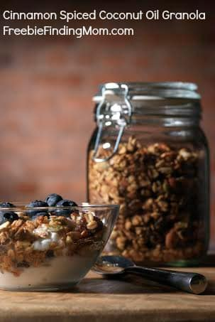 Homemade Cinnamon Spiced Coconut Oil Granola - Incredibly delicious and healthy.