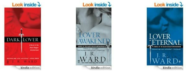Amazon: Romance Books by J.R. Ward Only $1.99 Each on Kindle (Today Only)
