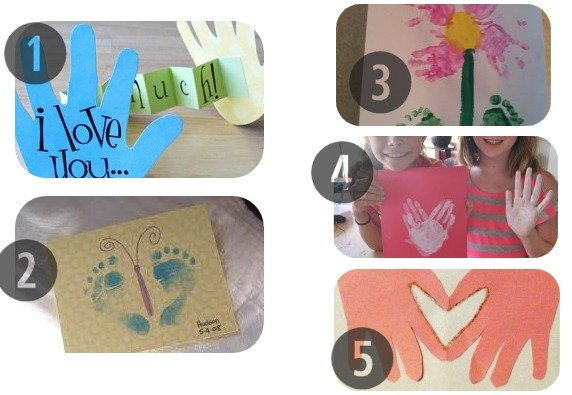 25 Homemade Mother's Day Cards 1-5