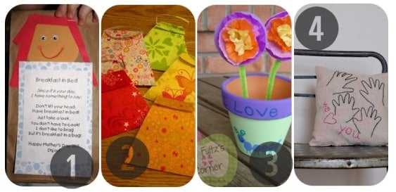 25 Homemade Mother's Day Gifts 1-4