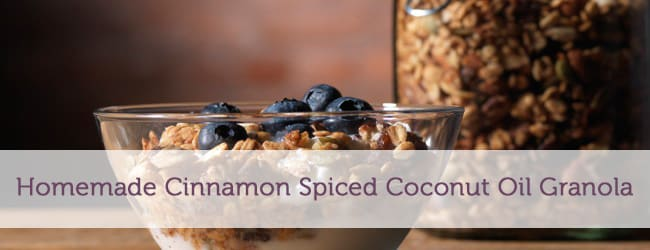 Homemade Cinnamon Spiced Coconut Oil Granola