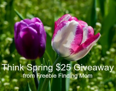Congratulations to the Winner of the Think Spring $25 Giveaway from Freebie Finding Mom!