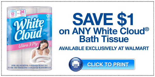 New! $1 Off Any White Cloud Bath Tissue Printable Coupon