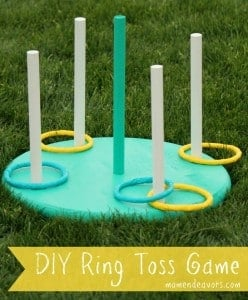 Outdoor party game DIY Ring Toss Game
