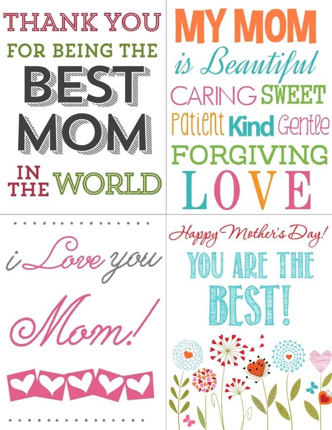 Printables for Kids: FREE Mother's Day Cards