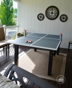 Outdoor party game DIY ping pong table