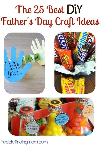 The 25 Best DIY Father's Day Craft Ideas - You'll find thoughtful Father's Day gifts for dad like a candy bouquet, remote control shaped cookies, hand print creations and more.