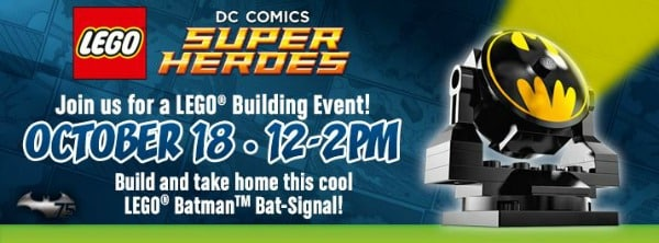 Toys R Us: FREE LEGO Batman Bat Signal Building Event on October 18
