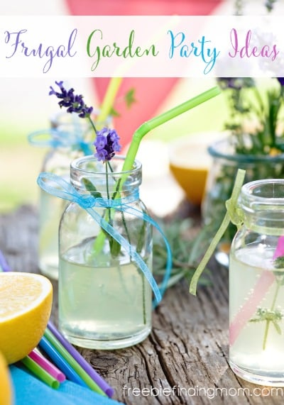 Who said you can't throw a chic garden party on a budget? With these frugal garden party ideas you'll see just how easy and inexpensive it is to have a fabulous bash on a budget by incorporating wine bottle vases, Mason jar drink ware, and more.