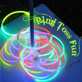 Outdoor party game glow in the dark ring toss