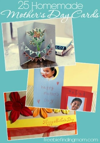 25 Homemade Mother's Day Cards - Footprint butterflies, tissue paper flower bouquets and more.