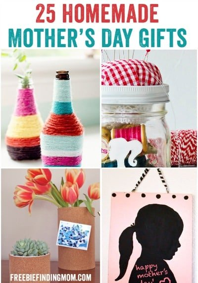 25 Homemade Mother's Day Gifts - Fingerprint candles, marshmallow flowers, wrapped vases and more.