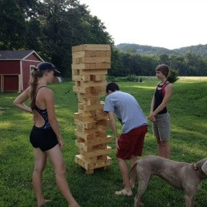 Outdoor party game backyard oversized jenga