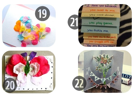 25 Homemade Mother's Day Cards 19-22