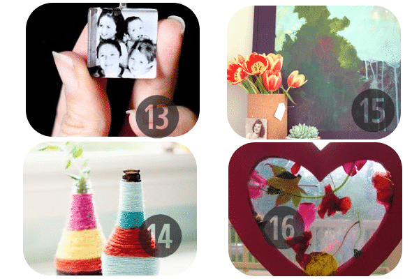 25 Homemade Mother's Day Gifts 13-16