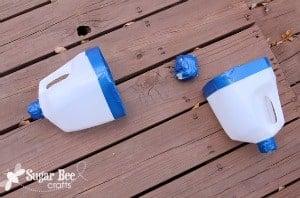 Outdoor party game milk jug toss