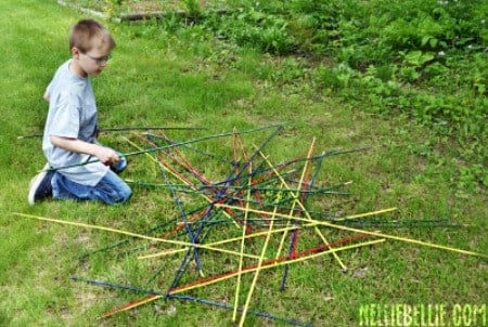 Outdoor party game giant pick up sticks