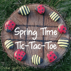Outdoor party game spring tic tac toe