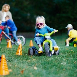 Outdoor party game wild wheels obstacle course
