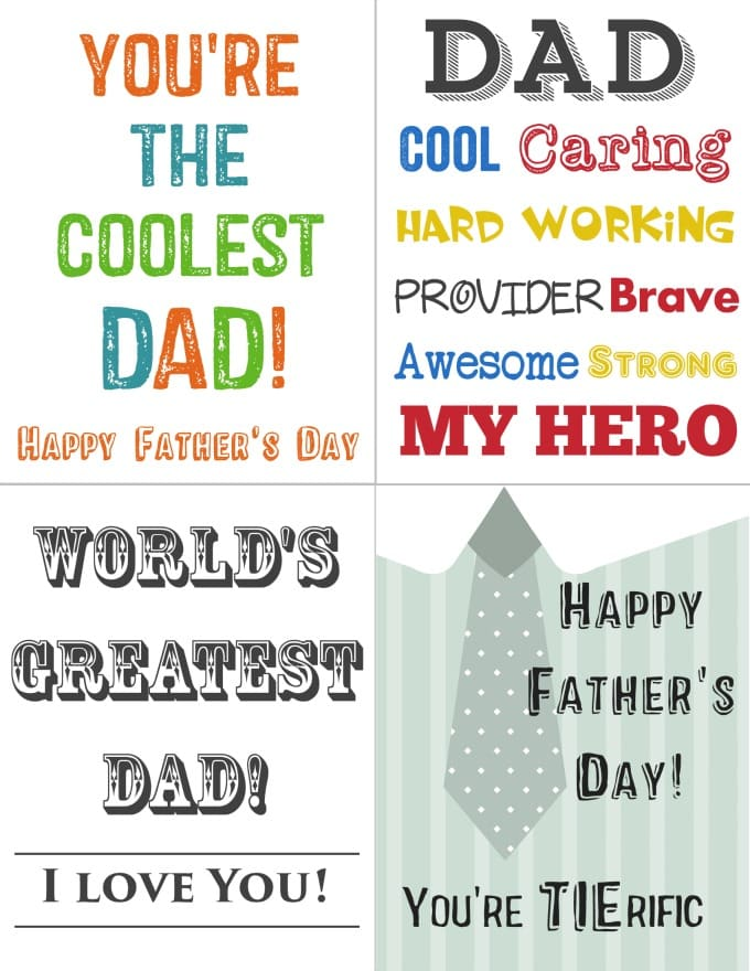 It is an image of Vibrant Printable Fathers Day Card