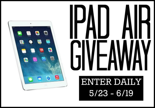 Enter to Win the iPad Air Giveaway ($499 Value)
