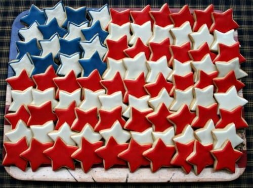 Memorial Day Party Ideas - Memorial Day cookie platter