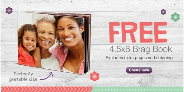 FREE 4.5x6 Brag Book with Walgreens photo coupon code banner