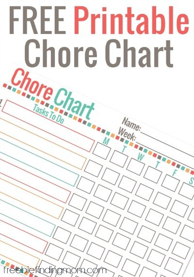 free printable chore charts for adults