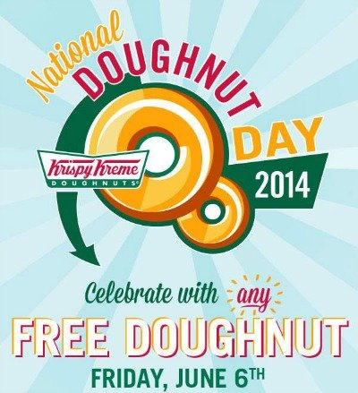 Krispy Kreme: FREE Doughnut on National Doughnut Day June 6