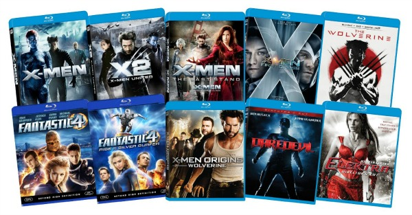 Amazon: Marvel Bundle (The Wolverine, X-Men, Fantastic Four, Daredevil, Elektra) on Blu-Ray Only $64.99 Shipped (Regularly $199.99) - Today Only!