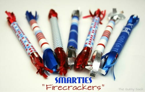 Memorial Day Party Ideas - Smarties firecrackers