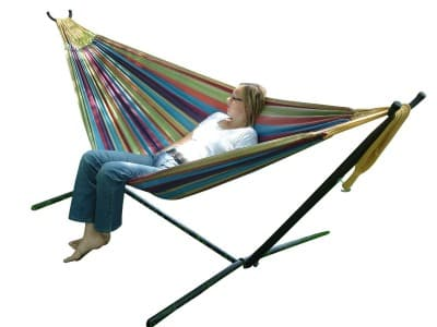 Amazon Best Bargain of the Day: Vivere Double Hammock with Space-Saving Steel Stand Only $94.90 Shipped (Regularly $159.97)