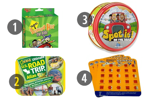 Travel Games for the Car 1-4