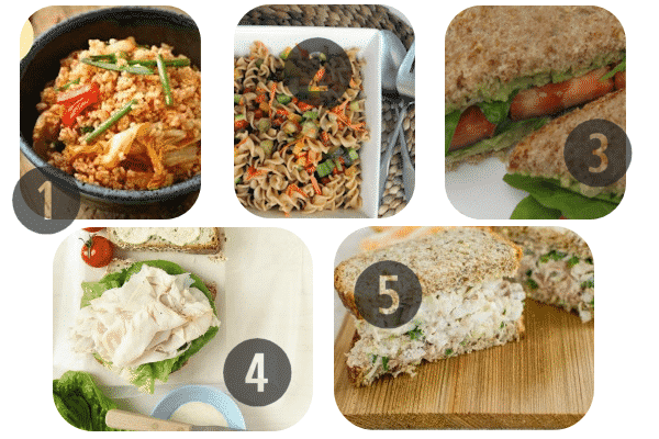 25 Healthy Lunch Recipes for Work 1-5
