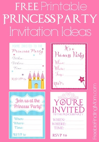 Throw a Fabulous Princess Party on a Budget: Download Free Printable Princess Party Invitation Ideas