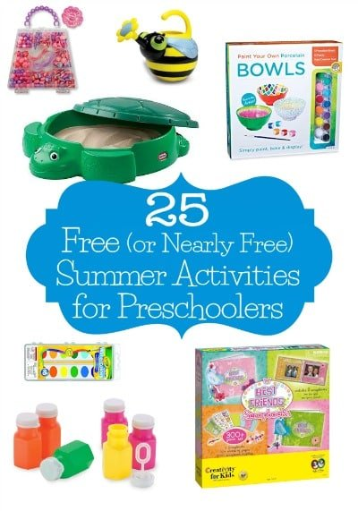 25 Free (or Nearly Free) Summer Activities for Preschoolers - These 25 free or cheap summer activities for preschoolers are big on fun but easy on the wallet.