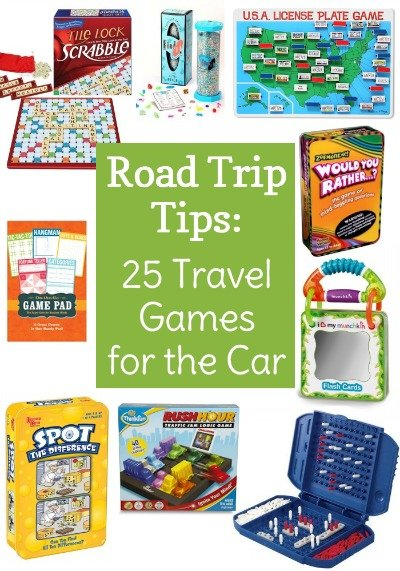 "25 Travel Games for the Car - Avoid backseat fighting and complaining of ""I'm bored"" while on your next road trip. Pick up some of these fun travel games for the car to keep the kids (and adults) entertained."