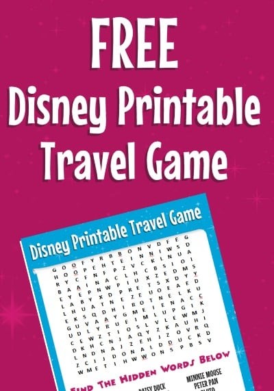 Road Trip Tips: Bring This Free Disney Word Search + More Printable Travel Games for Kids